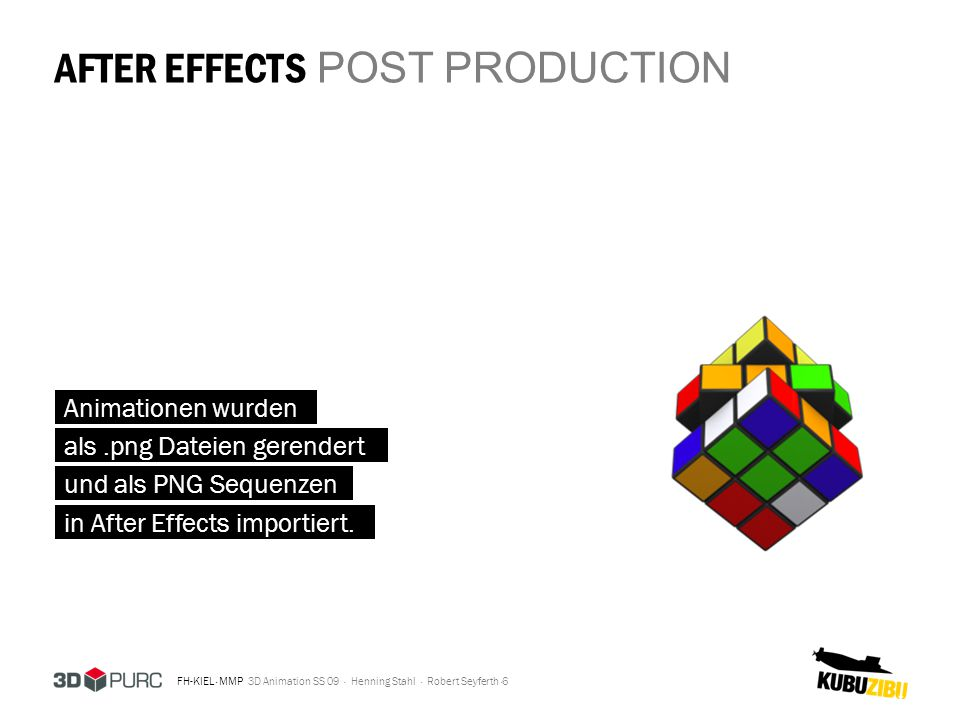 AFTER EFFECTS POST PRODUCTION