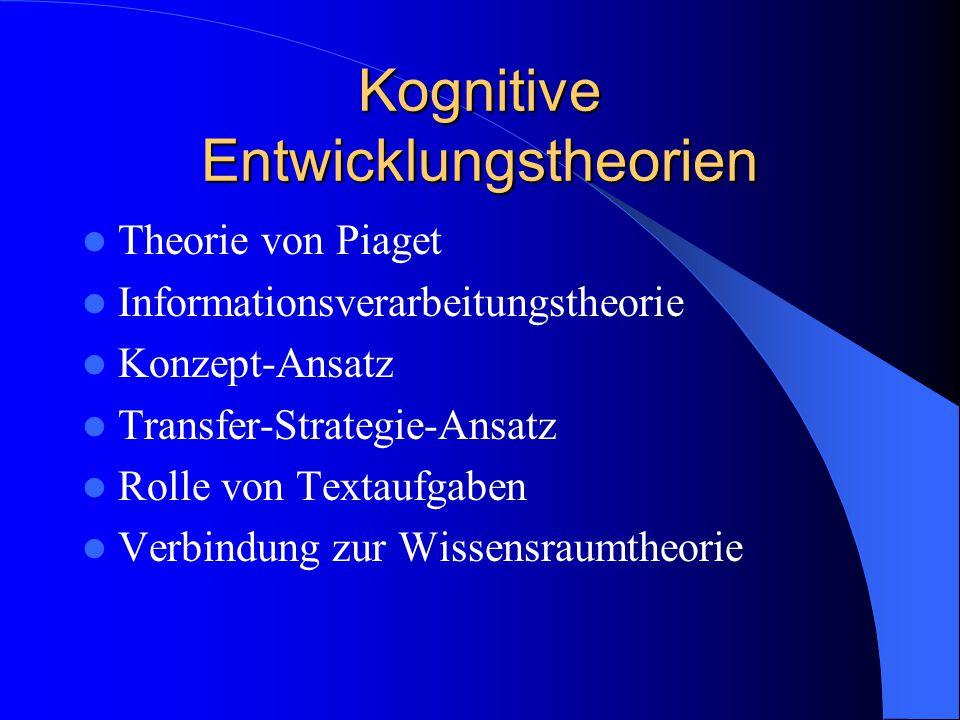 Kognitive Entwicklungstheorien
