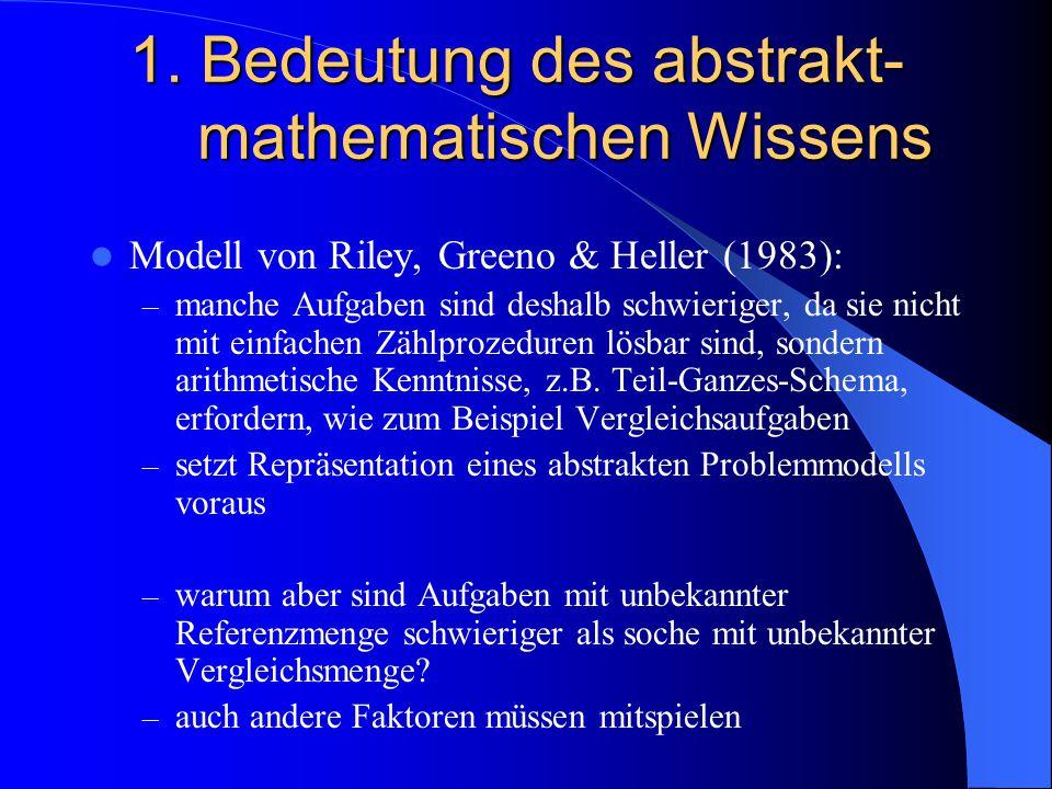 1. Bedeutung des abstrakt-mathematischen Wissens