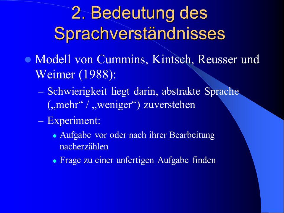 2. Bedeutung des Sprachverständnisses