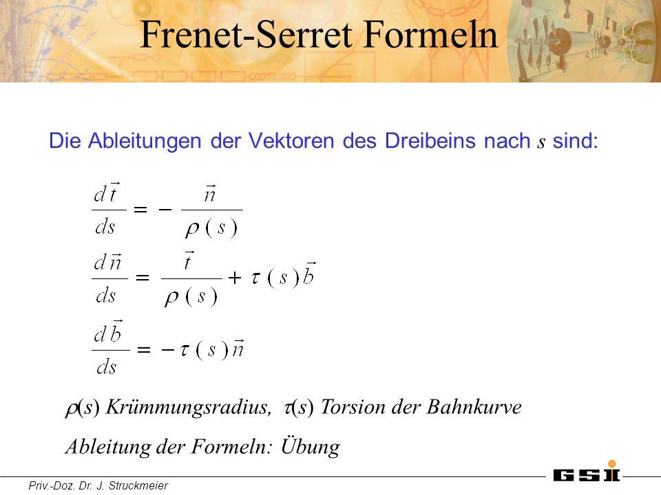 Frenet-Serret Formeln