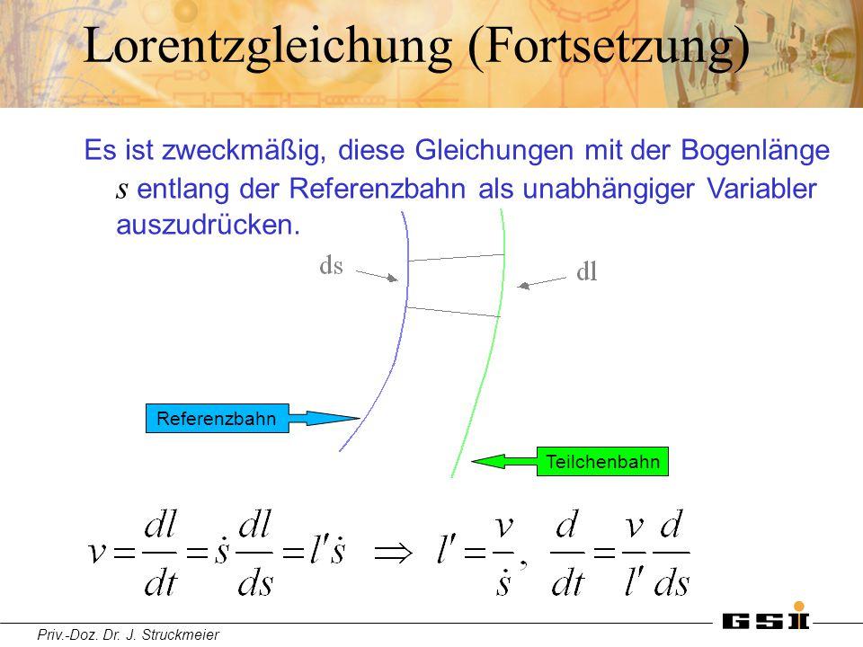 Lorentzgleichung (Fortsetzung)