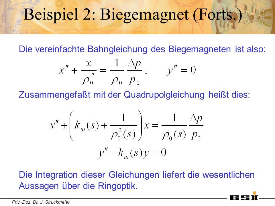 Beispiel 2: Biegemagnet (Forts.)