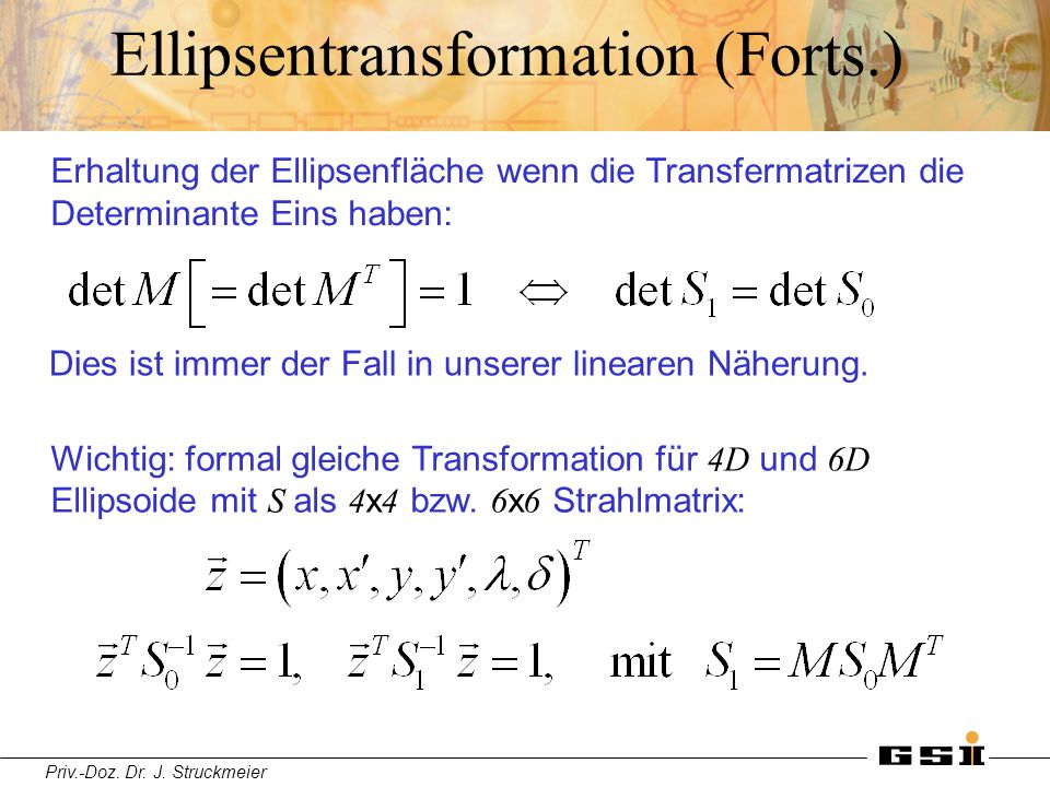Ellipsentransformation (Forts.)