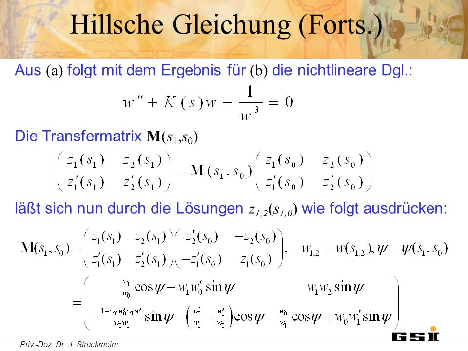 Hillsche Gleichung (Forts.)
