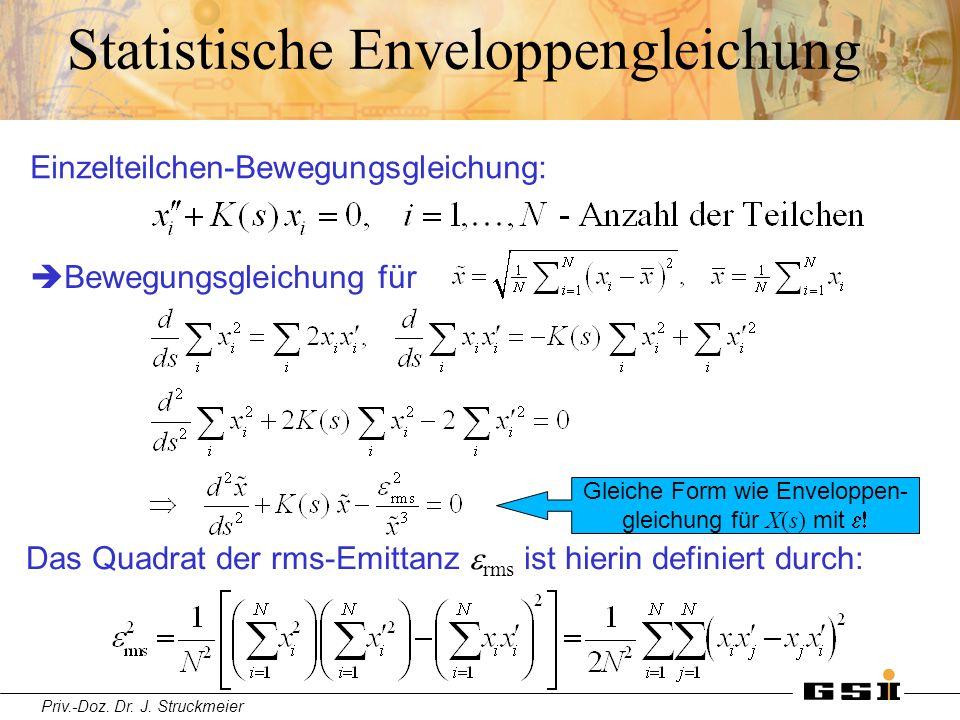 Statistische Enveloppengleichung
