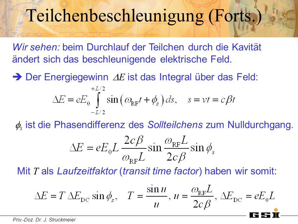 Teilchenbeschleunigung (Forts.)