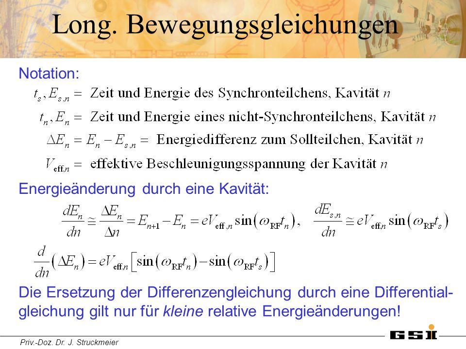 Long. Bewegungsgleichungen