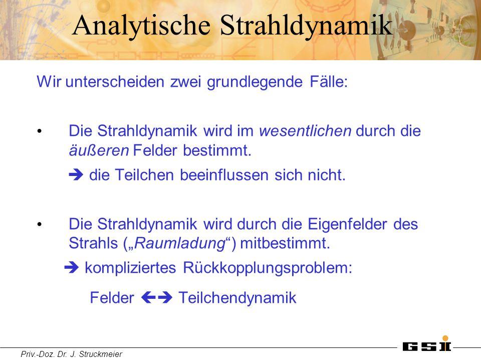 Analytische Strahldynamik