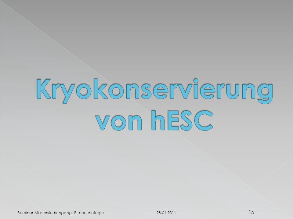 Kryokonservierung von hESC
