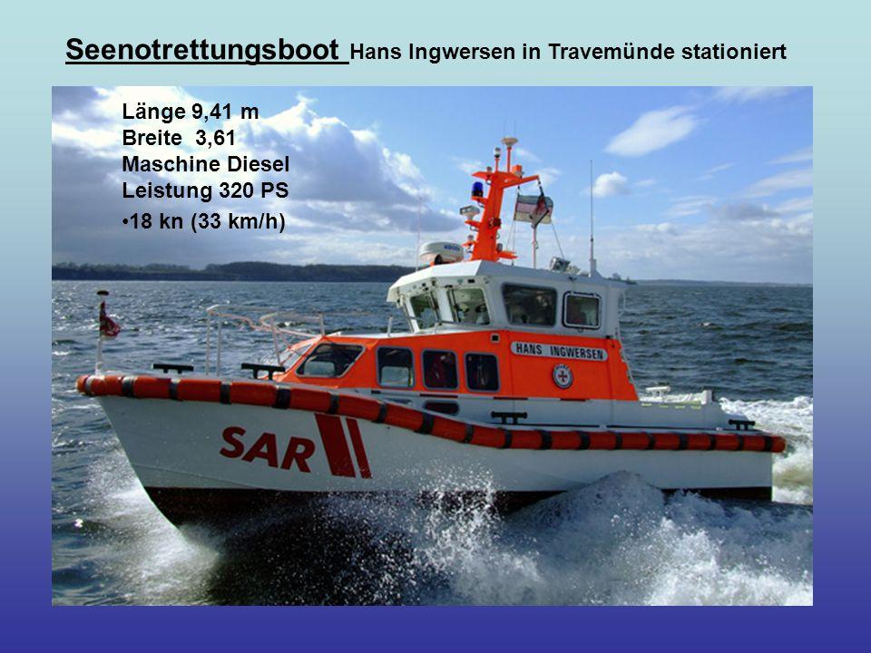 Seenotrettungsboot Hans Ingwersen in Travemünde stationiert