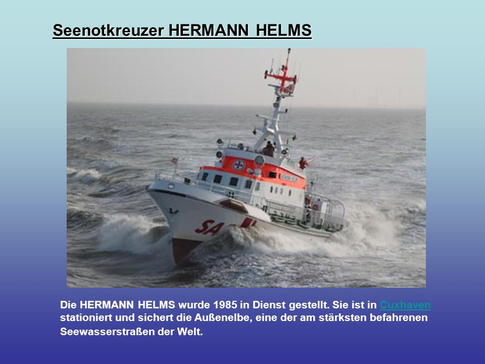 Seenotkreuzer HERMANN HELMS