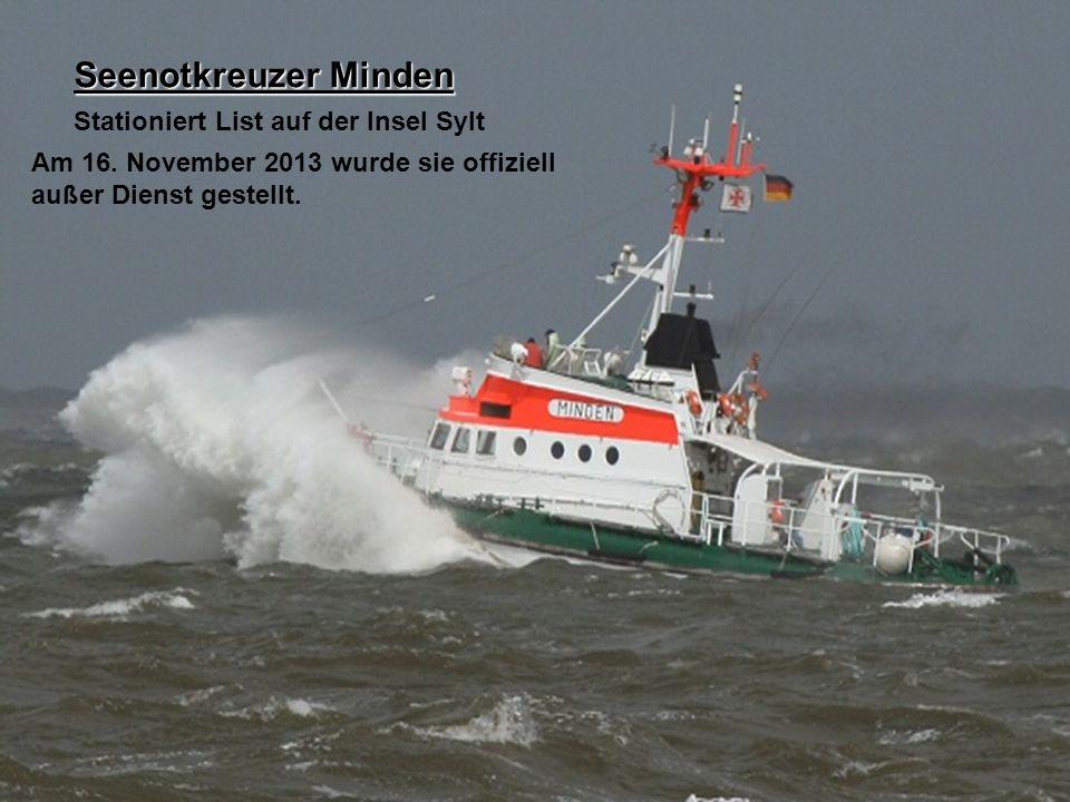 Seenotkreuzer Minden Stationiert List auf der Insel Sylt