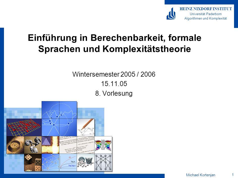 Wintersemester 2005 / 2006 15.11.05 8. Vorlesung