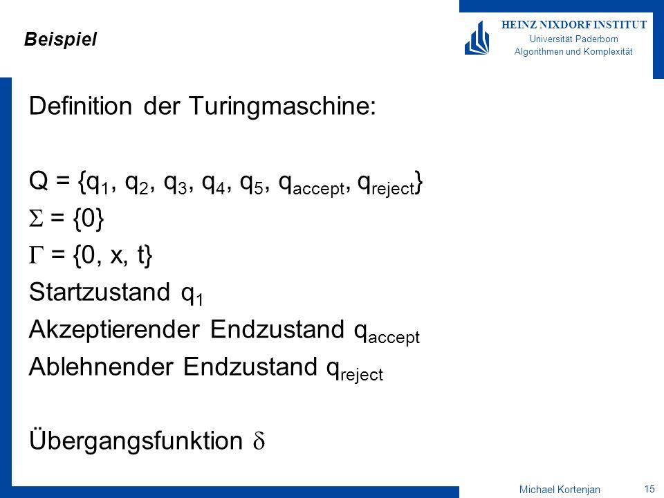 Definition der Turingmaschine: