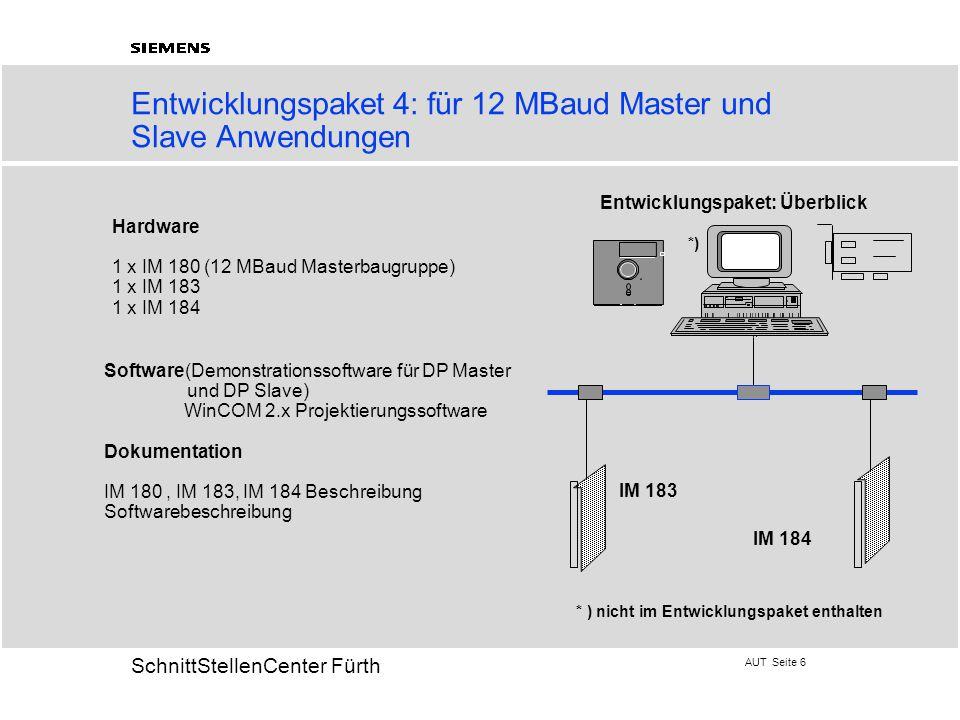 Entwicklungspaket 4: für 12 MBaud Master und Slave Anwendungen