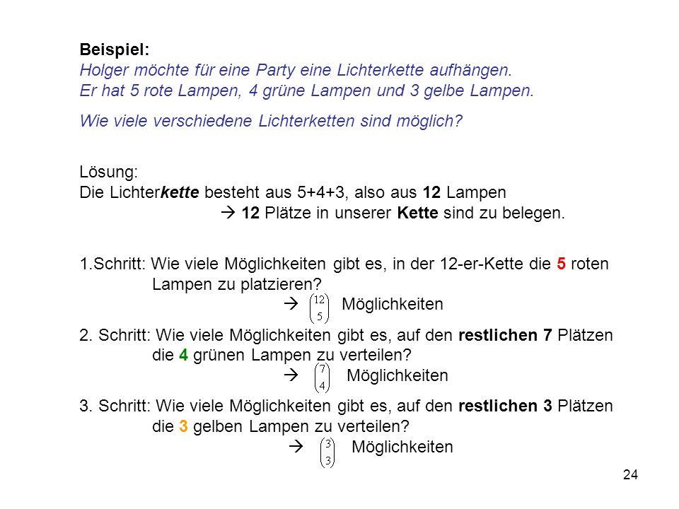 Beispiel: Holger möchte für eine Party eine Lichterkette aufhängen