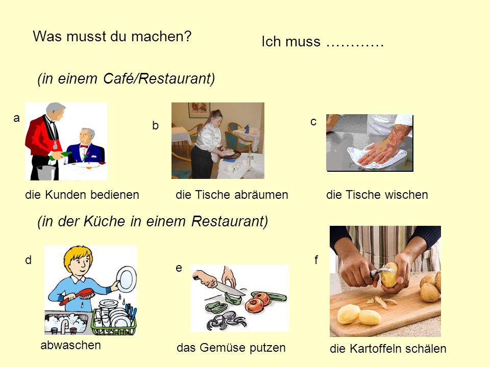 (in einem Café/Restaurant)
