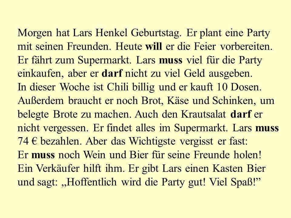 Morgen hat Lars Henkel Geburtstag