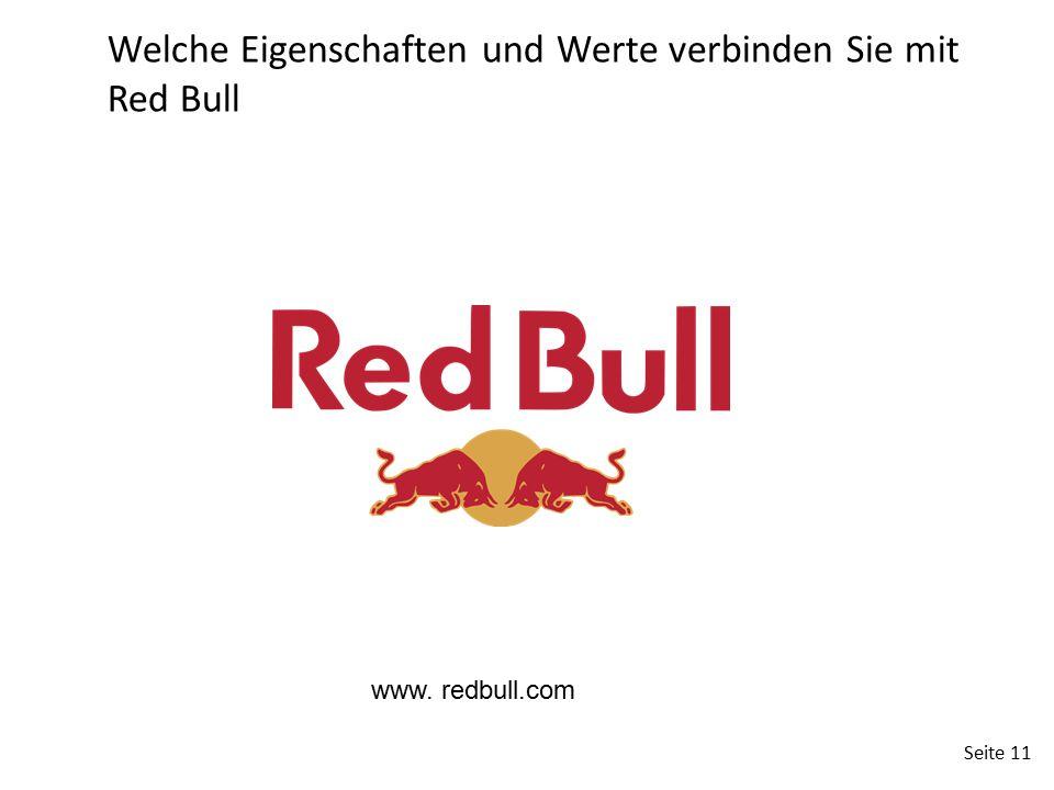 Welche Eigenschaften und Werte verbinden Sie mit Red Bull