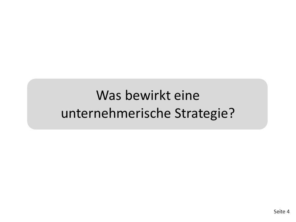 Was bewirkt eine unternehmerische Strategie