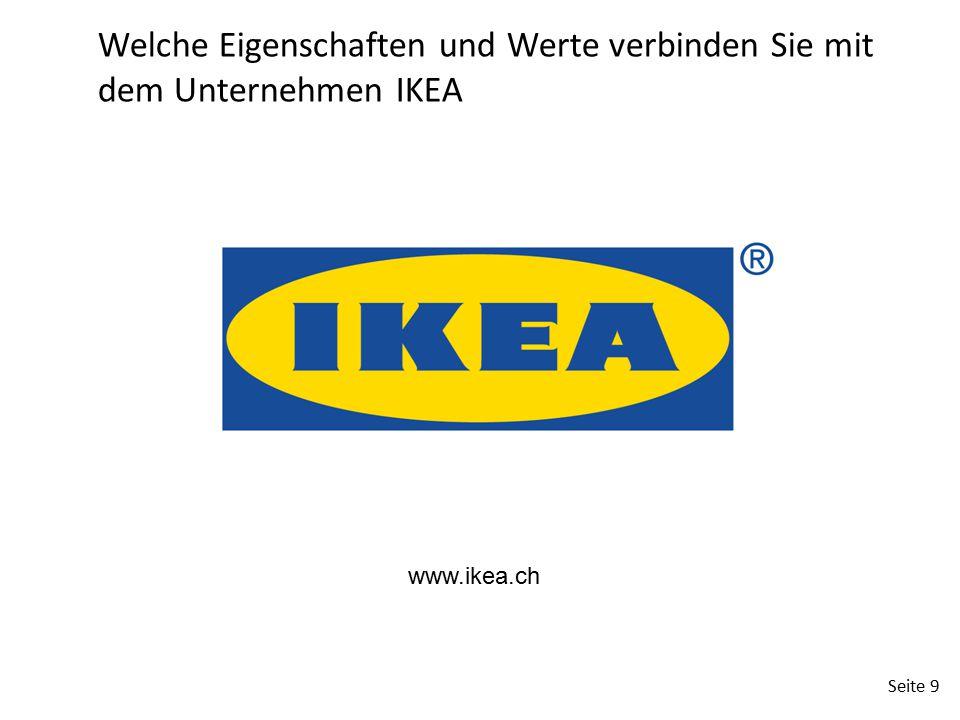 Welche Eigenschaften und Werte verbinden Sie mit dem Unternehmen IKEA