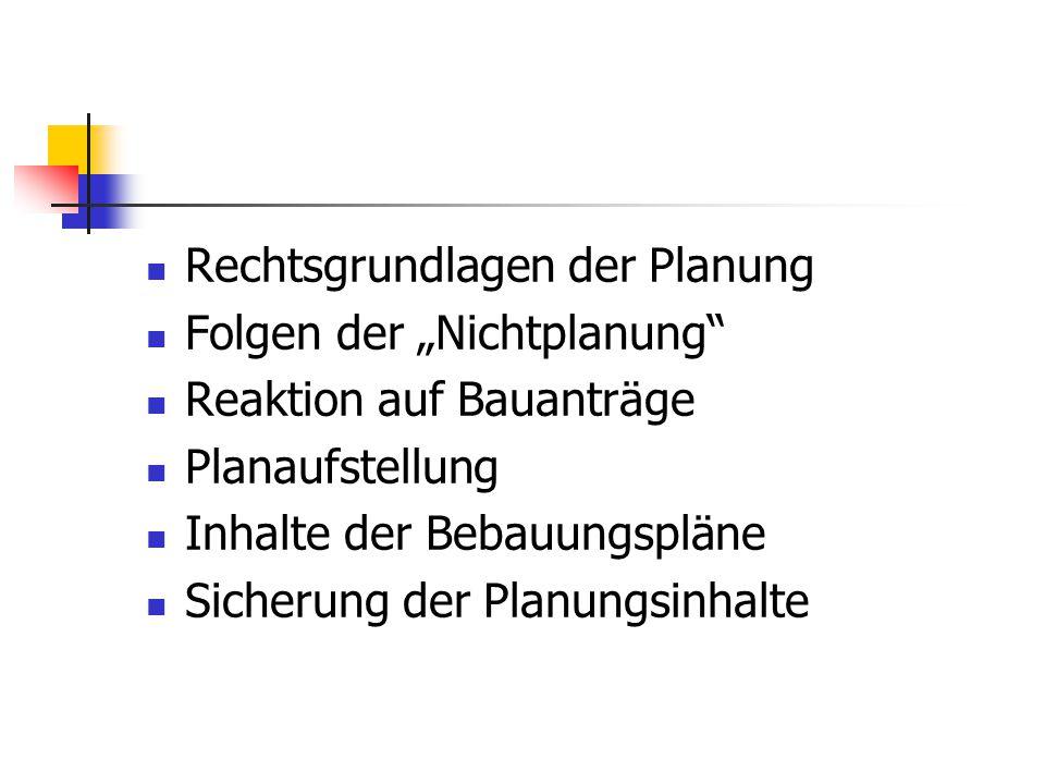 Rechtsgrundlagen der Planung