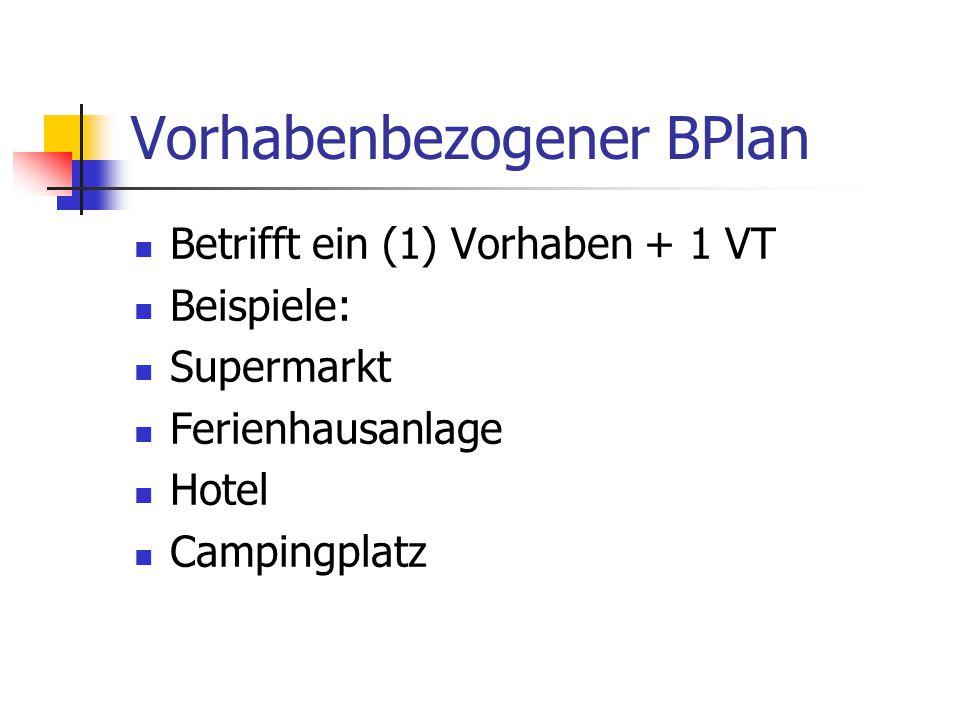 Vorhabenbezogener BPlan