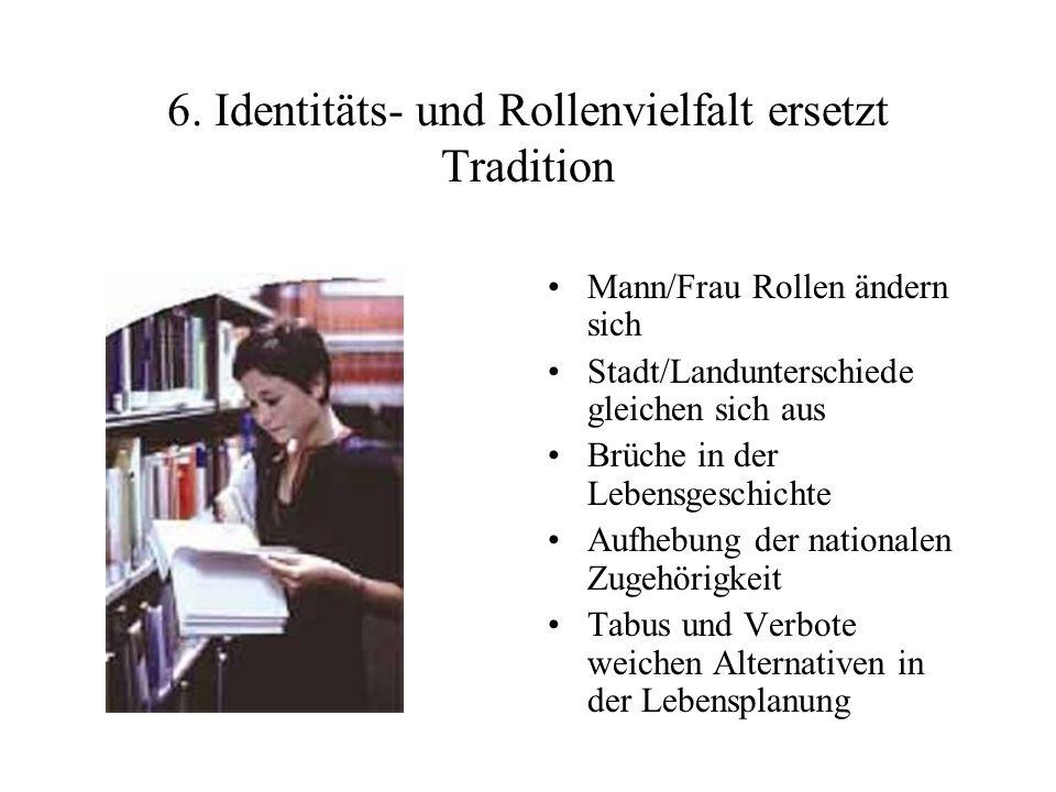 6. Identitäts- und Rollenvielfalt ersetzt Tradition
