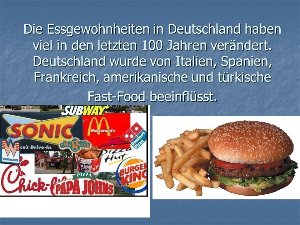 Die Essgewohnheiten in Deutschland haben viel in den letzten 100 Jahren verändert.