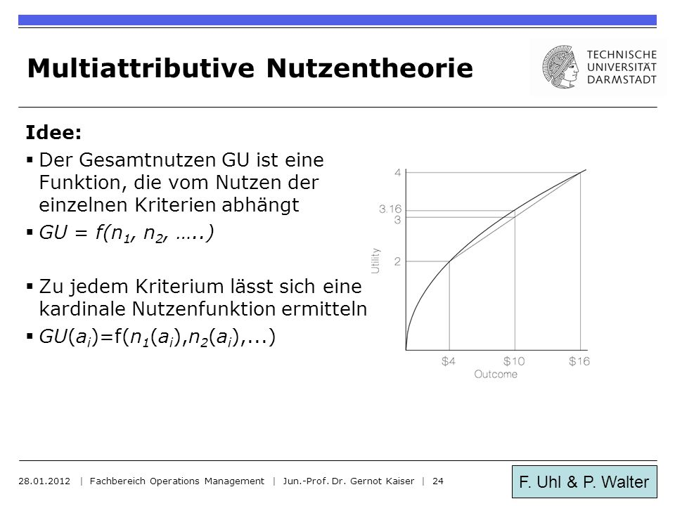 Multiattributive Nutzentheorie