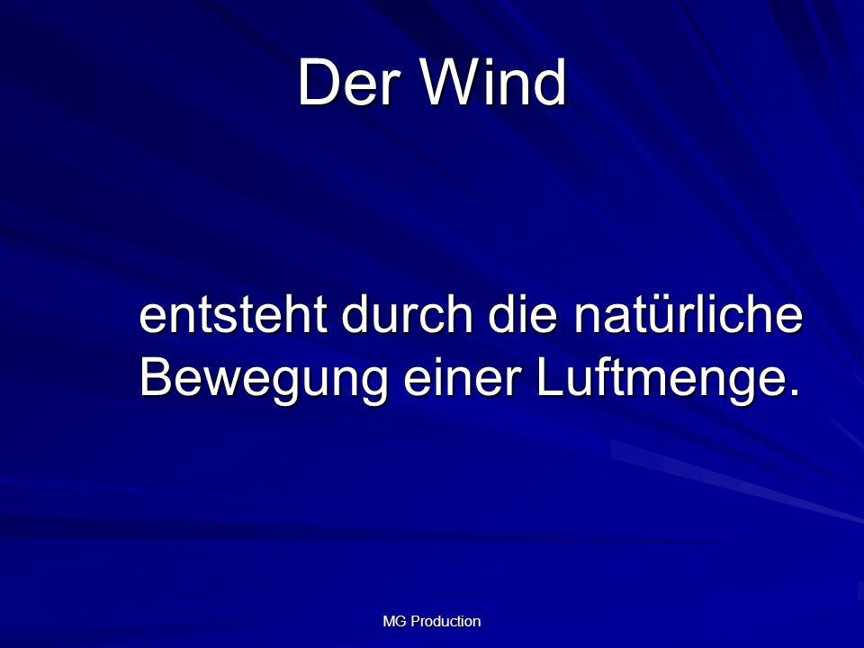 Der Wind entsteht durch die natürliche Bewegung einer Luftmenge.