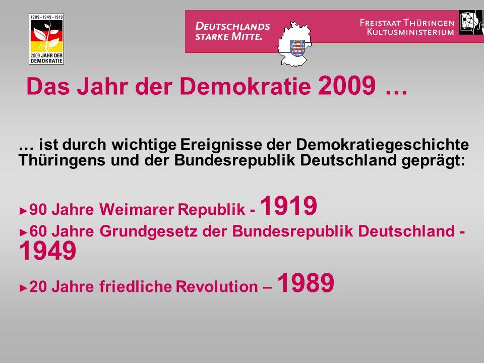 Das Jahr der Demokratie 2009 …
