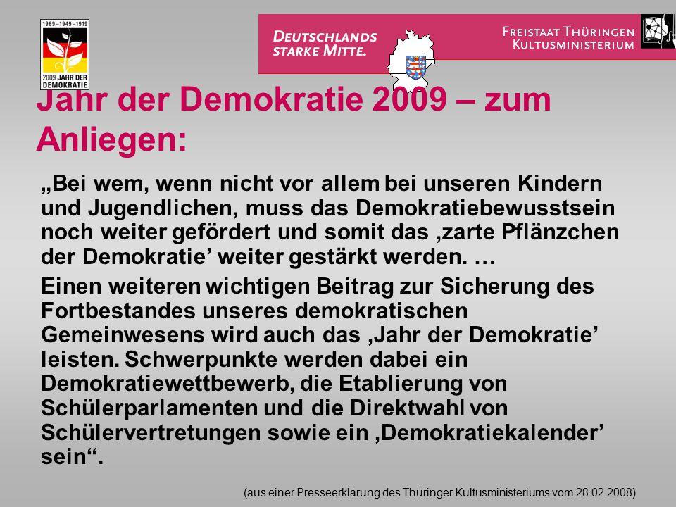 Jahr der Demokratie 2009 – zum Anliegen:
