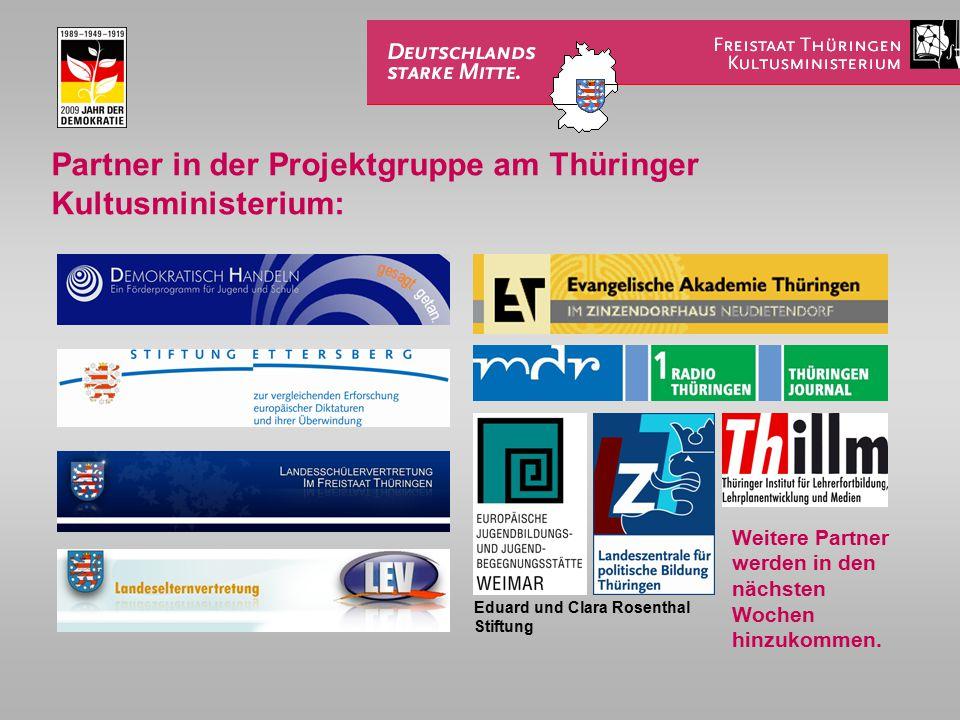 Partner in der Projektgruppe am Thüringer Kultusministerium: