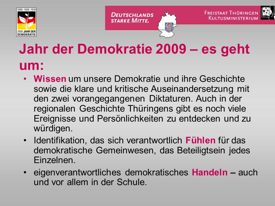 Jahr der Demokratie 2009 – es geht um: