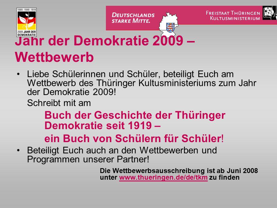 Jahr der Demokratie 2009 – Wettbewerb