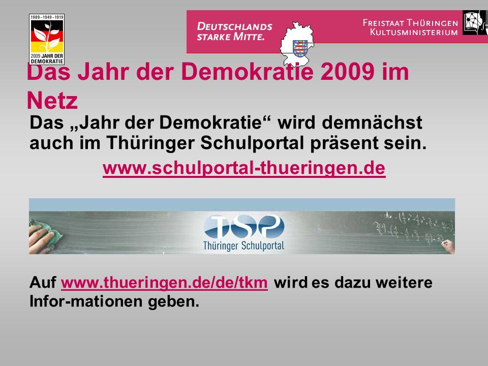 Das Jahr der Demokratie 2009 im Netz