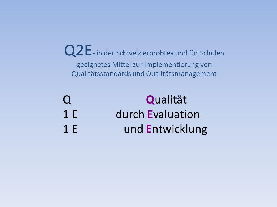 Q2E- in der Schweiz erprobtes und für Schulen geeignetes Mittel zur Implementierung von Qualitätsstandards und Qualitätsmanagement