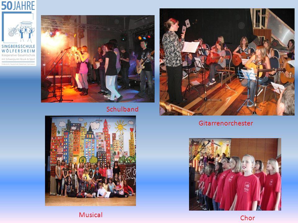 Schulband Gitarrenorchester Musical Chor