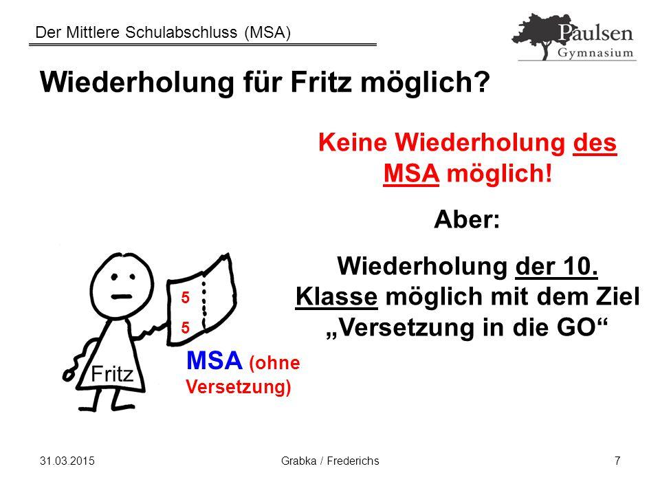 Wiederholung für Fritz möglich