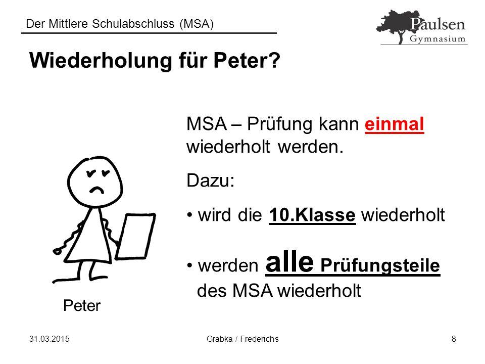 Wiederholung für Peter