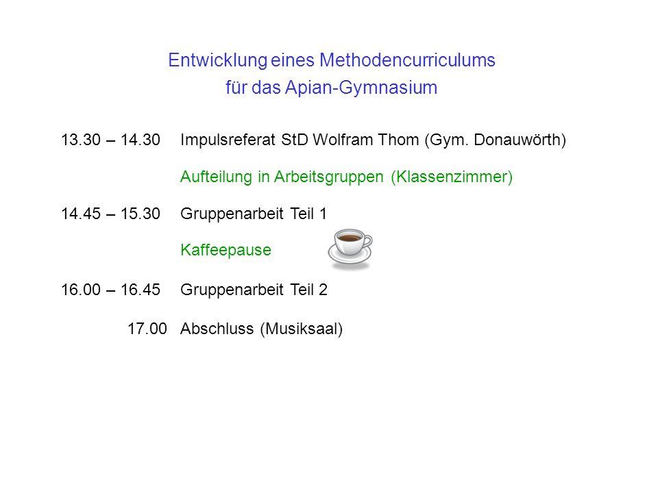 Entwicklung eines Methodencurriculums für das Apian-Gymnasium