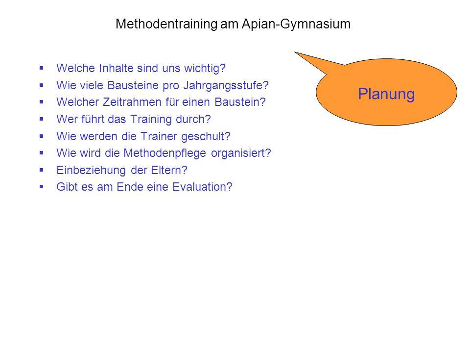 Methodentraining am Apian-Gymnasium