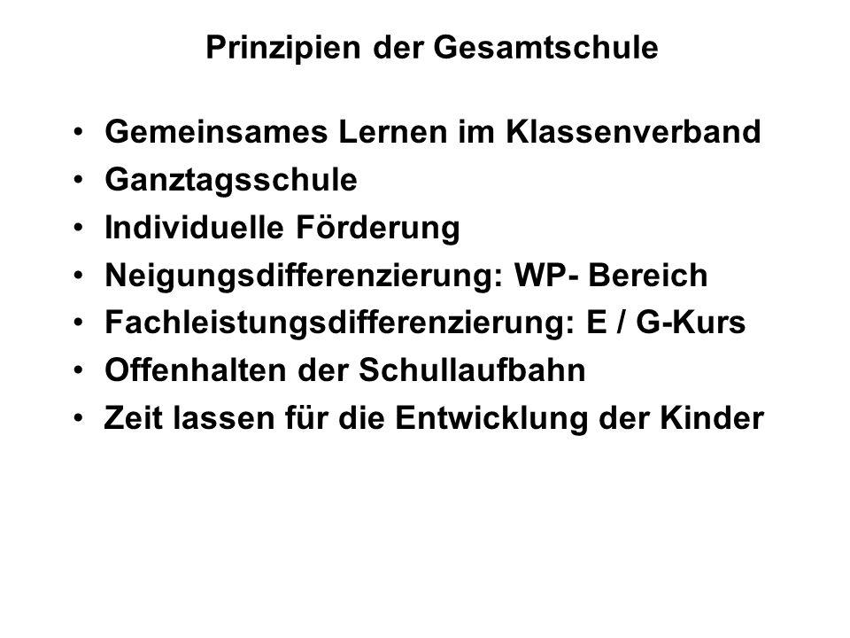 Prinzipien der Gesamtschule