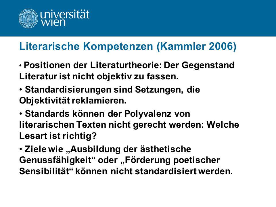 Literarische Kompetenzen (Kammler 2006)