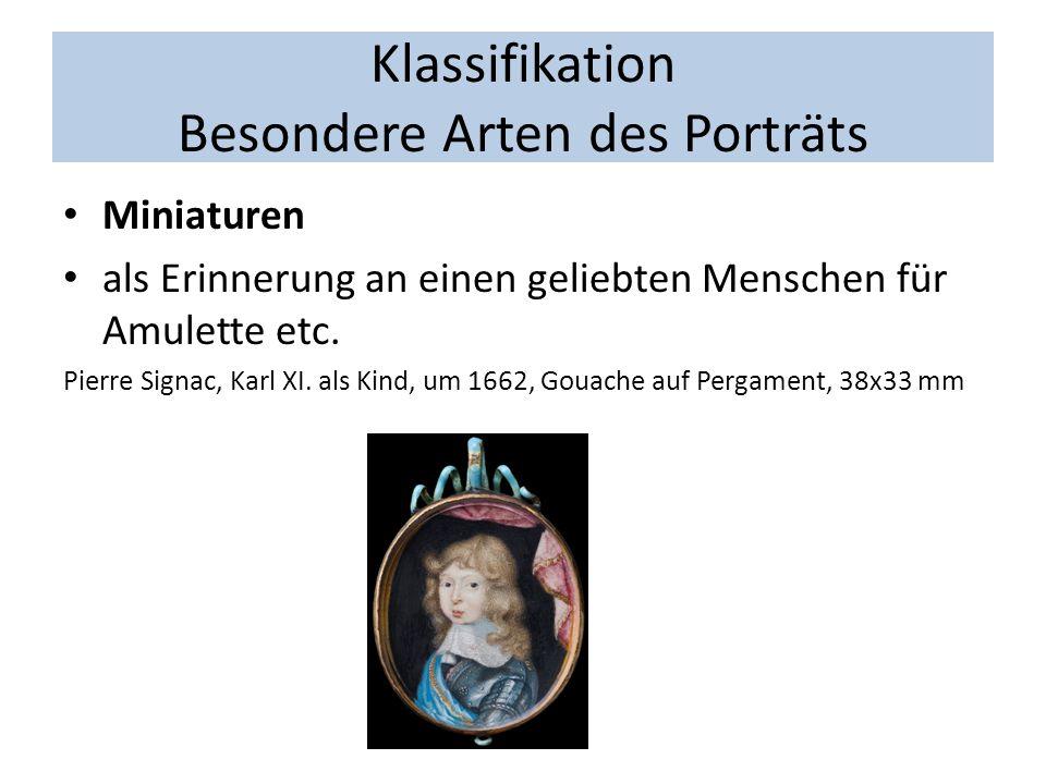 Klassifikation Besondere Arten des Porträts