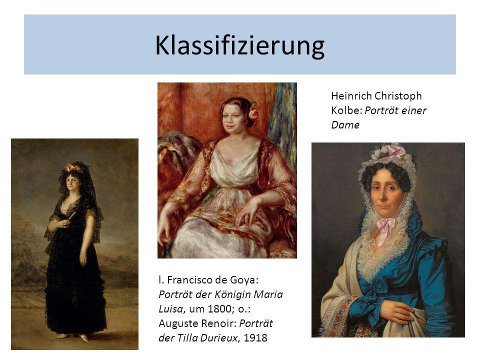 Klassifizierung Heinrich Christoph Kolbe: Porträt einer Dame