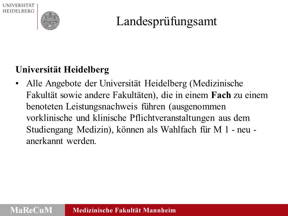 Landesprüfungsamt Universität Heidelberg