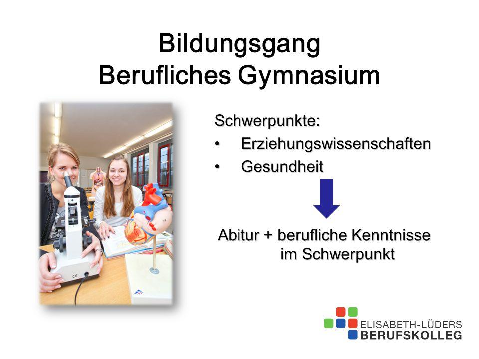 Bildungsgang Berufliches Gymnasium